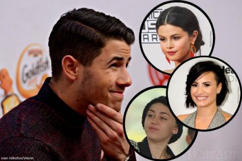 Nick Jonas - Selena Gomez - Demi Lovato - Miley Cyrus