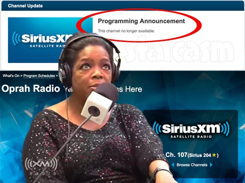 Why did Sirius XM get rid of Oprah Radio