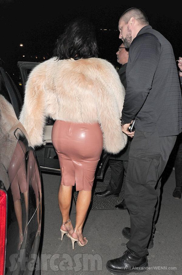 Kim Kardashian booty wearing latex
