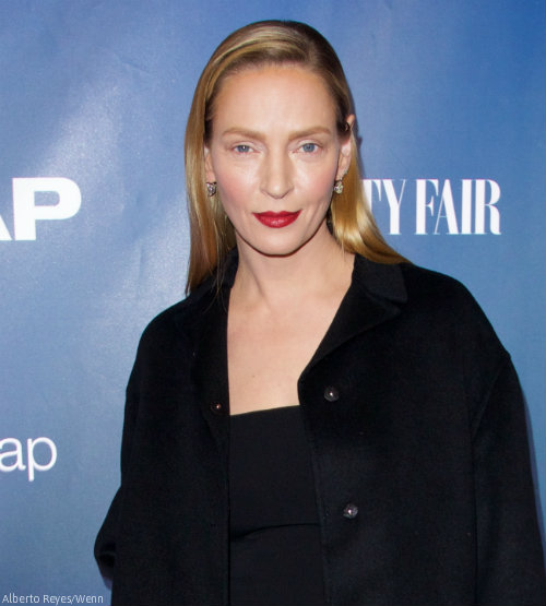 ... Uma Thurman nearly pulled it off at Monday's premiere of The Slap Uma Thurman