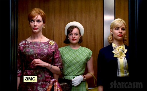 Mad Men Season 7 trailer elevator Joan Peggy