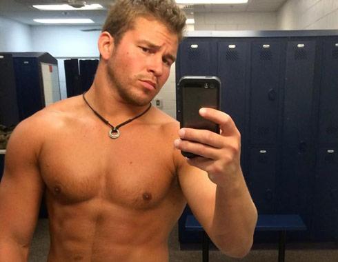 Nathan Griffith no shirt