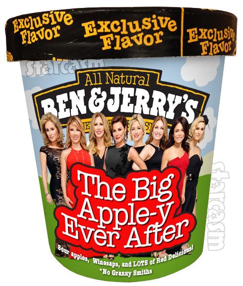 Ben & Jerrys RHONYC ice cream flavor The Big Apple-y Ever After