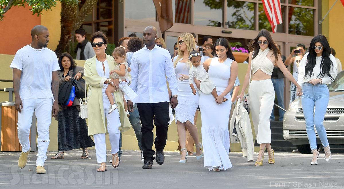 PHOTOS Kardashian Family Go To Church On Easter Kendall Jenner Raises Eyebrows With Revealing Top