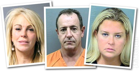 Dina Lohan Michael Lohan Kate Major Lohan mug shot photos