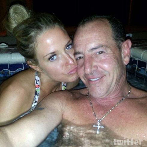 Michael Lohan and Kate Major Lohan together