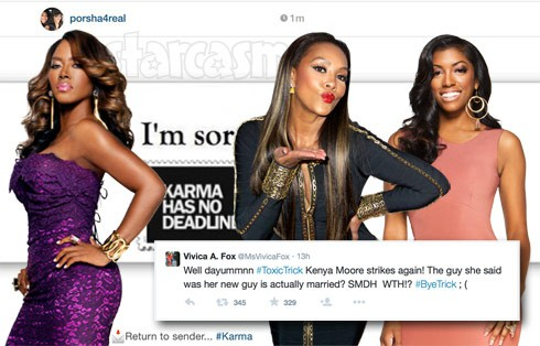 Vivica A. Fox and Porsha Williams throw shade at Kenya Moore after her Millionaire Matchmaker boyfriend marries another woman