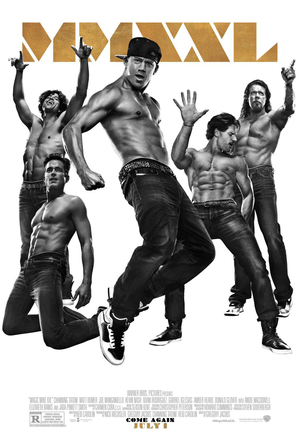 photo new magic mike xxl movie poster with 30 pack abs. Black Bedroom Furniture Sets. Home Design Ideas