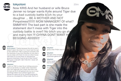 Blac Chyna's mom Ms. Tokyo Toni Instagram comments Tyga Kardashians and calling Kris Jenner a Pimpstress
