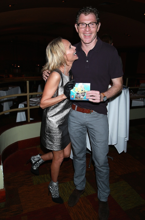CD release party for the new cast recording of On the Twentieth Century held at Bar Americain restaurant. Featuring: Kristin Chenoweth, Bobby Flay Where: New York City, New York, United States When: 17 May 2015 Credit: Joseph Marzullo/WENN.com