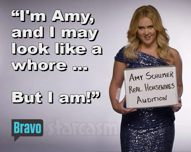 Amy Schumer Real Housewives tagline