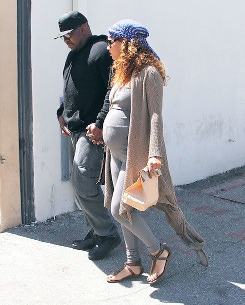 Bobby Brown takes his pregnant wife to lunch in Beverly Hills  Featuring: Bobby Brown, Alicia Etheredge Where: Los Angeles, California, United States When: 16 Apr 2015 Credit: WENN.com