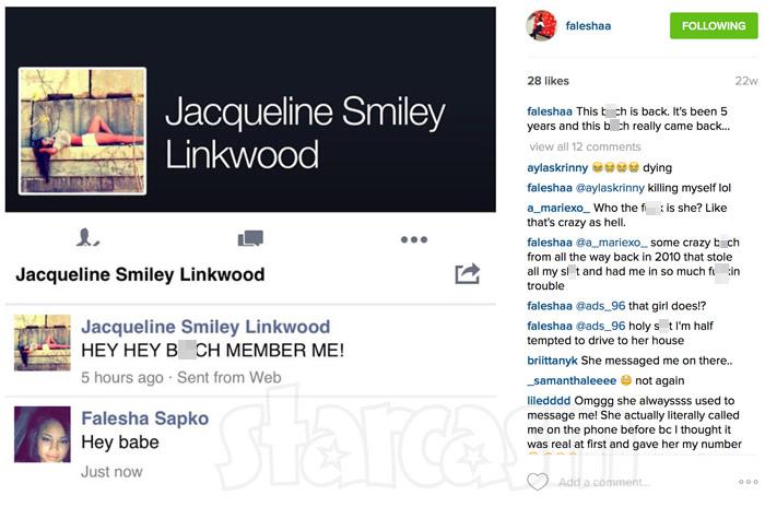 Catfish Falesha Jacqueline Instagram Facebook post