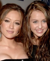 Hilary and Miley