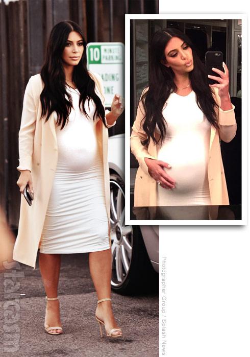 Is Kim Kardashian's baby bump fake?