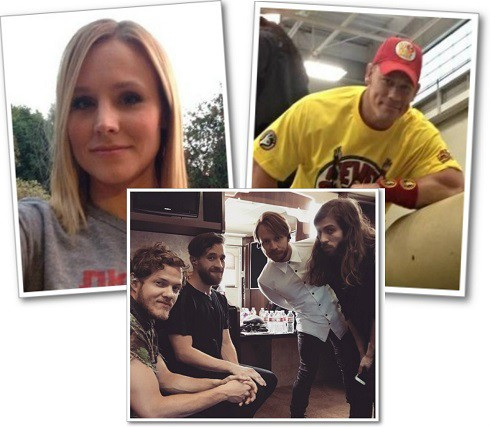 Actress Kristen Bell, WWE John Cena, rock band Imagine Dragons