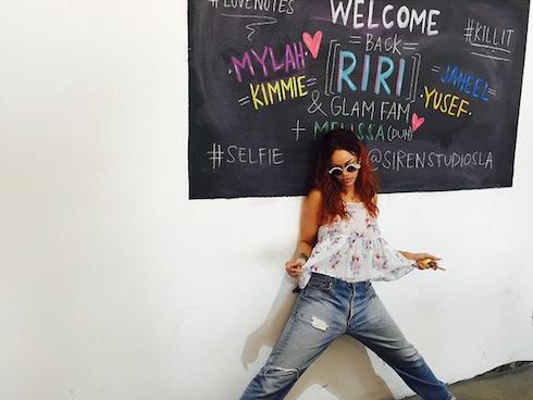 Rihanna chalkboard