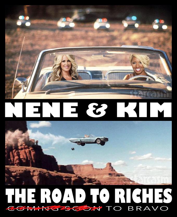 Thelma and Louise NeNe Leakes and Kim Zolciak