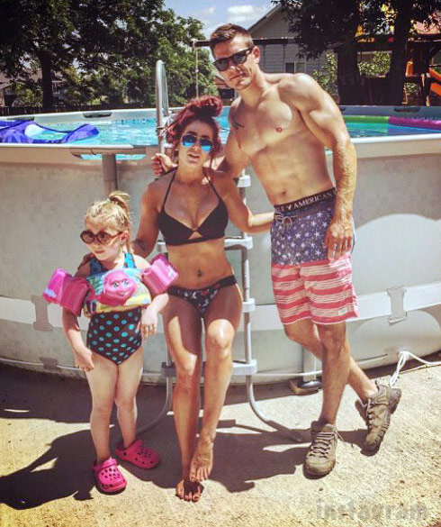 Chelsea Houska Bikini Cole DeBoer Shirtless Aubree Pool