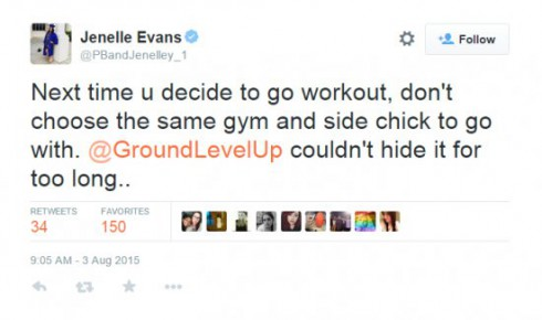 Jenelle Evans Nathan Griffith Cheating Tweet