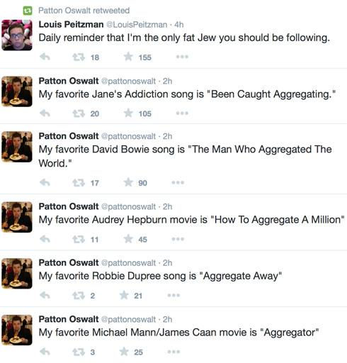 Patton Oswalt The Fat Jew tweets 1