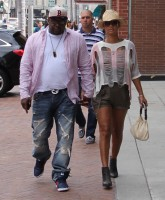Bobby Brown holds hands with wife Alicia Etheredge as they go out and about in Beverly Hills  Featuring: Bobby Brown, Alicia Etheredge Where: Los Angeles, California, United States When: 25 Aug 2015 Credit: WENN.com