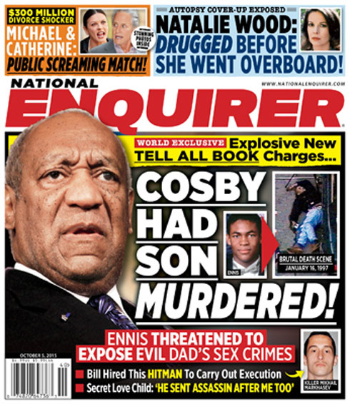 National Enquirer cover Bill Cosby had son murdered