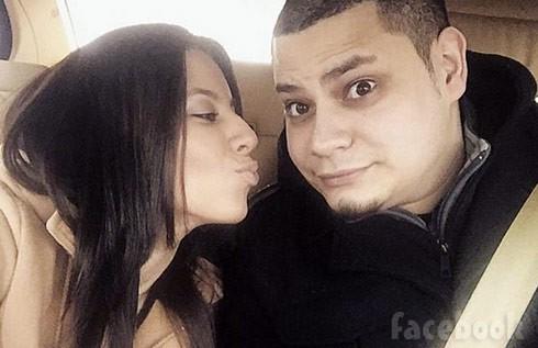 Vee Vetzabe Torres kissing Jo Rivera