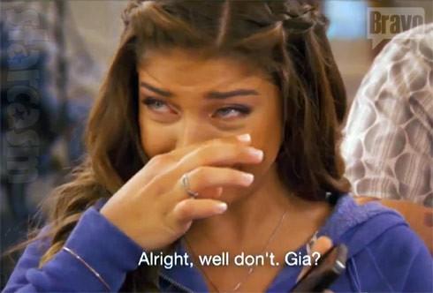 Gia Giudice crying