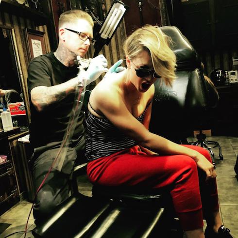 Kaley Cuoco tattoo 2