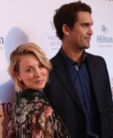 """Celebrities attend The Beverly Hilton 60th """"Diamond"""" anniversary at The Beverly Hilton, Aqua Star Pool.  Featuring: Kaley Cuoco, Ryan Sweeting Where: Los Angeles, California, United States When: 22 Aug 2015 Credit: Brian To/WENN.com"""