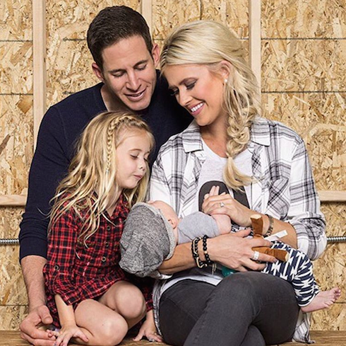 Tarek El Moussa and Christina Moussa with their children
