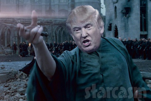 Donald Trump as Voldemort