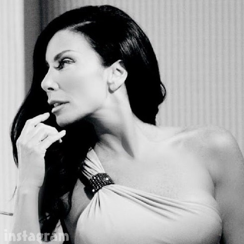 Danielle Staub black and white glamor shot