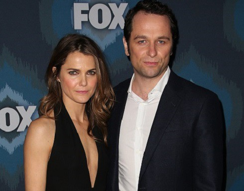 Pregnant Keri Russell and Matthew Rhys from The Americans