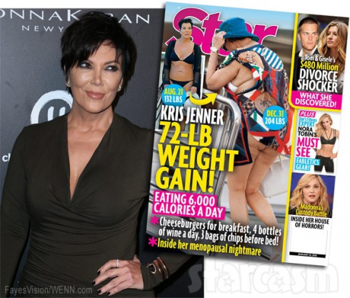 Kris Jenner 72 pound weight gain Star magazine cover