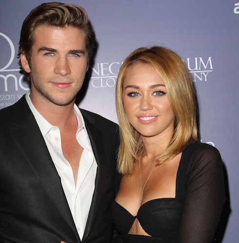 Liam Hemsworth and Miley Cyrus 1