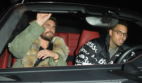 Scott Disick and Chris Brown Leave The Nice Guy in West Hollywood  Pictured: Scott Disick, Chris Brown Ref: SPL1211513  190116   Picture by: All Access Photo  Splash News and Pictures Los Angeles:	310-821-2666 New York:	212-619-2666 London:	870-934-2666 photodesk@splashnews.com