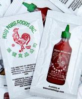 Sriracha sauce in packets