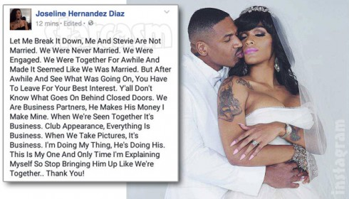 Joseline Stevie J wedding fake
