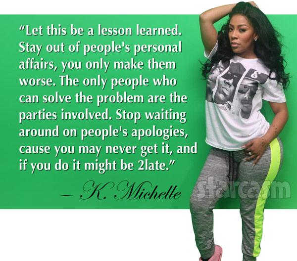 K Michelle quote about Memphitz