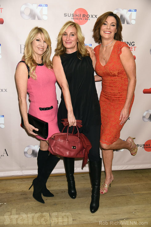Ramona Singer Sonja Morgan and Countess Luann de Lesseps together