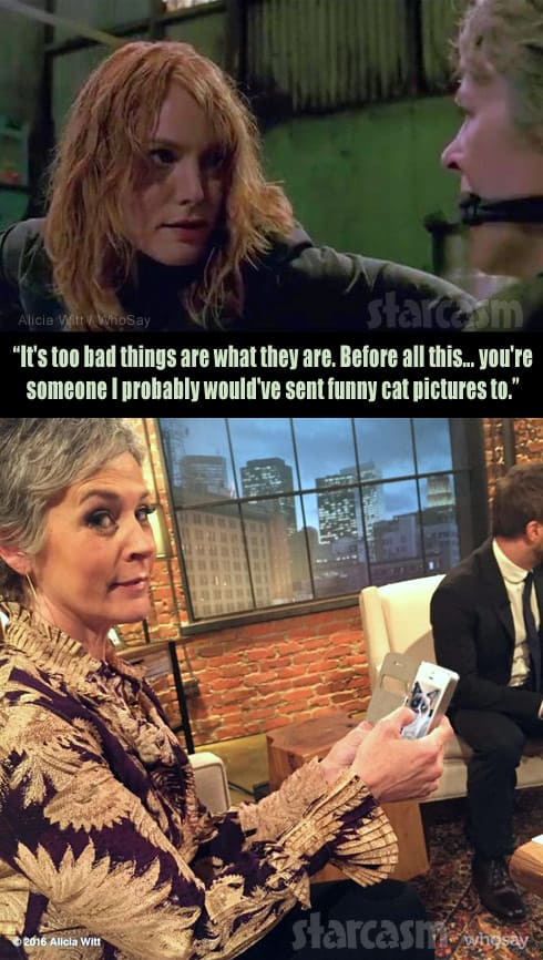 Alicia Witt Walking Dead Carol deleted scene funny cat photos
