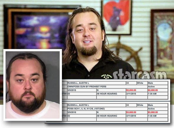 MUG SHOT Pawn Stars      Chumlee arrested for guns and drugs during
