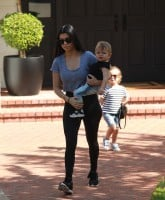Kourtney Kardashian  was spotted taking her kids to the singing class, in Hollywood Hills,CA.  Featuring: Kourtney Kardashian, Penelope Scotland Disick, Reign Aston Disick Where: Hollywood Hills, California, United States When: 26 Feb 2016 Credit: WENN.com
