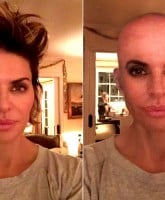 Lisa Rinna Fake Bald Head