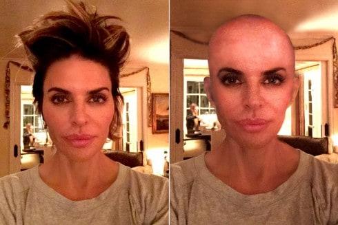 Lisa Rinna Fake Bald Head