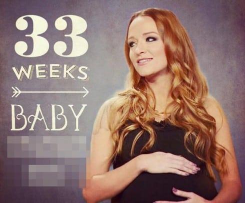 Maci Bookout baby bump 33 weeks
