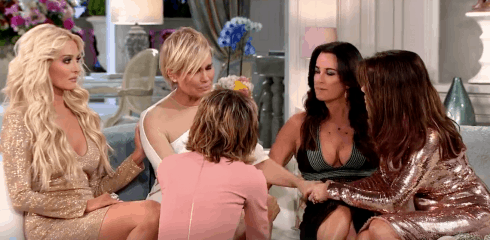 Supporting Yolanda at the RHOBH reunion