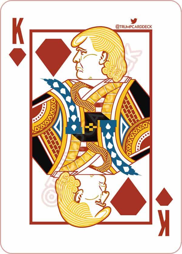 Donald Trump playing card King of Diamonds